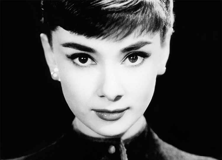 A photograph of the eyes of Audrey Hepburn