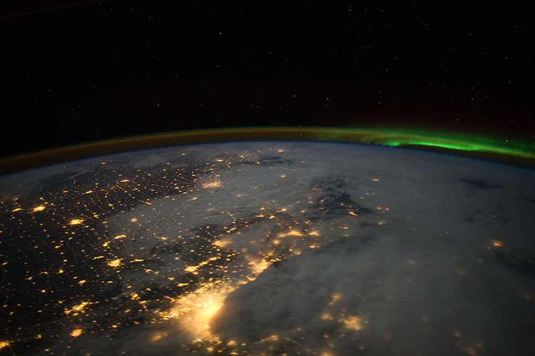 Shot of Greater Chicago Metropolitan Area, from the International Space Station
