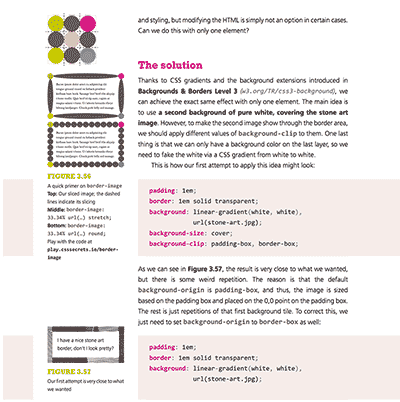 Page from CSS Secrets detailing border-image