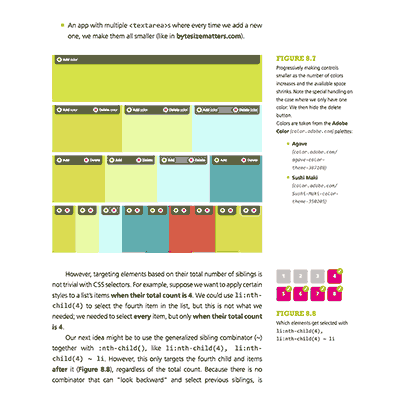 Page from CSS Secrets detailing sequence selections