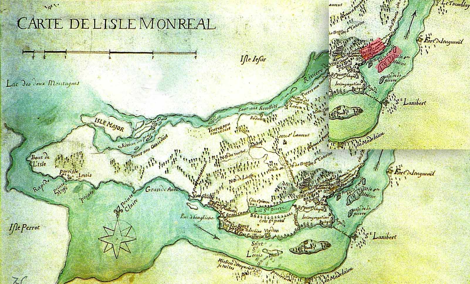 Map of Montreal in 1700