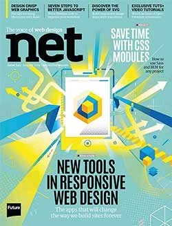 Cover of issue 249 of net magazine
