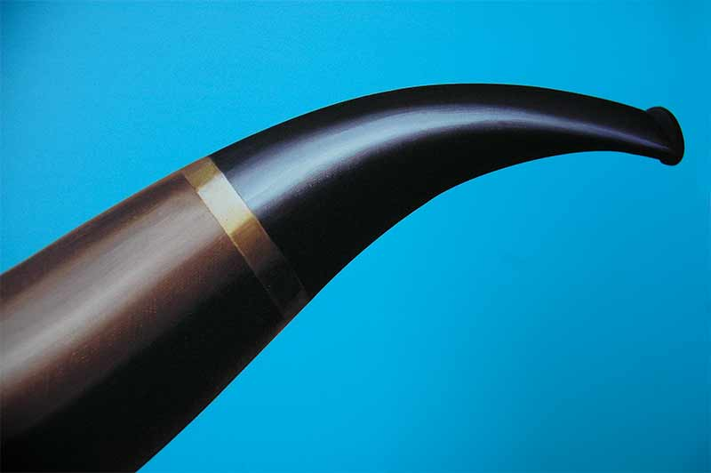 Pipe stem on a blue background
