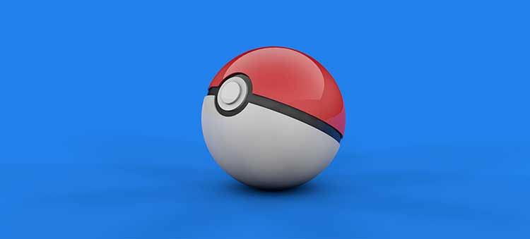 Photograph of a Pokemon ball