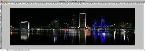 Jacksonville Skyline with horizontal PhotoShop rule