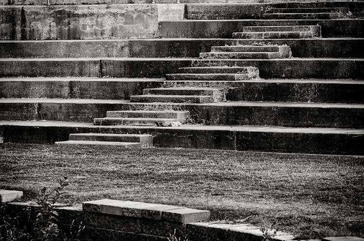 A photpgraph of a stone staircase in an arena