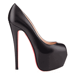 Photograph of a Christian Louboutin shoe