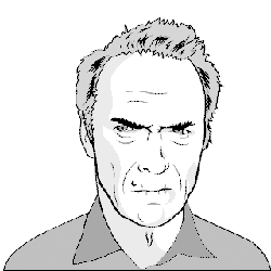 Illustration of Clint Eastwood