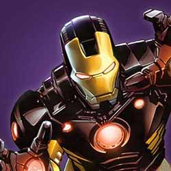 Comic book illustration of the Marvel character Iron Man