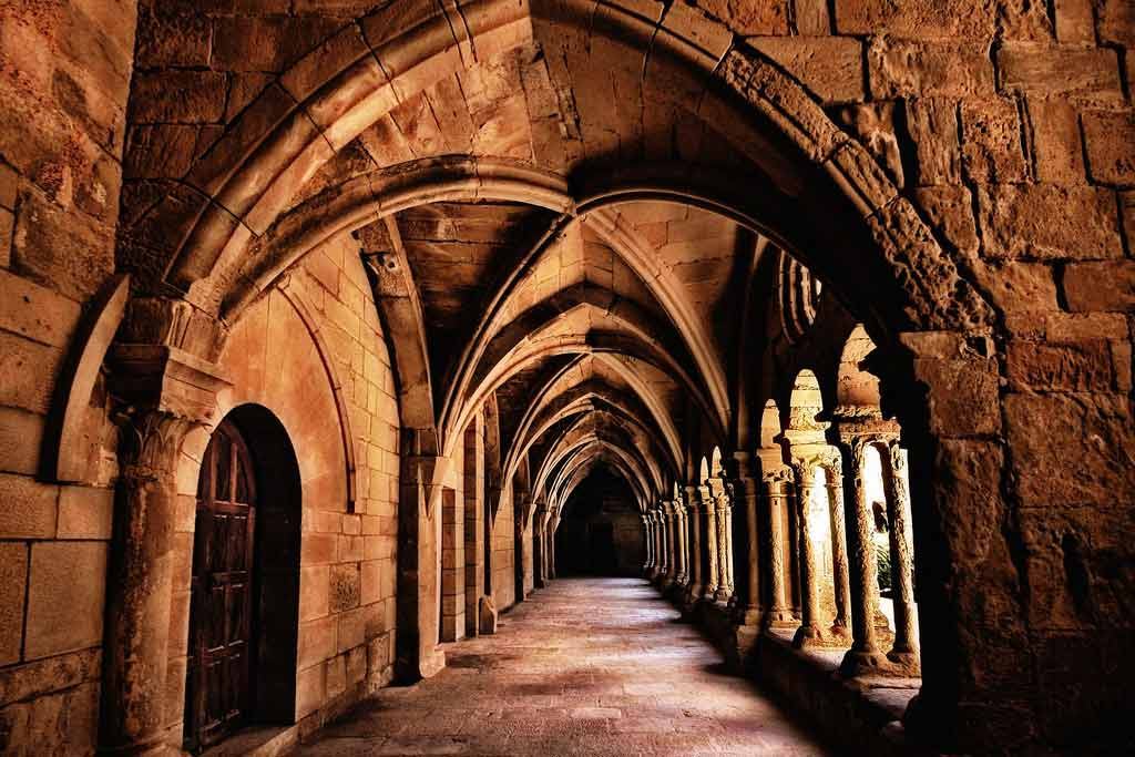 Photograph of a corridor in Vallbona de les monges Monastery, Catalonia, Spain by José Luis Mieza
