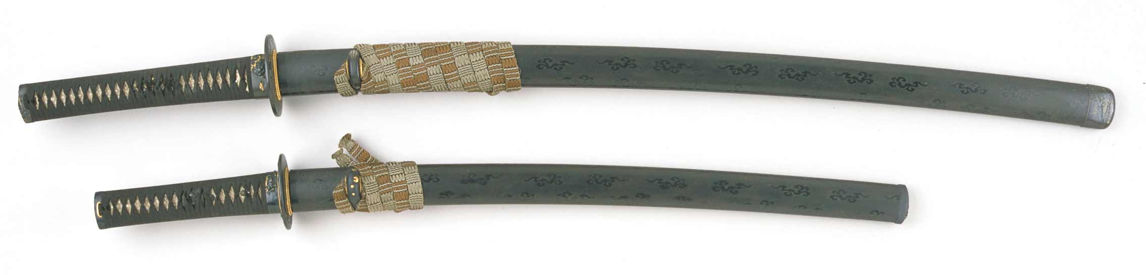 Photograph of a Japanese long and short sword