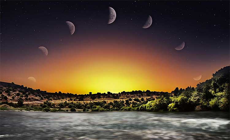 Moonrise timelapse in northern Iraq by Mostafa Hamad