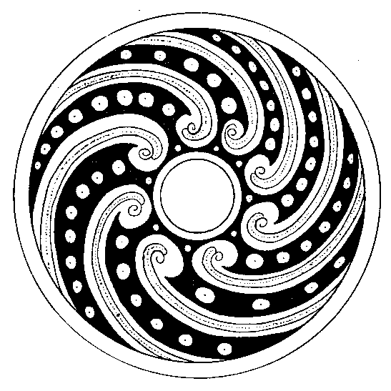 Circular New Guinea tattoo design