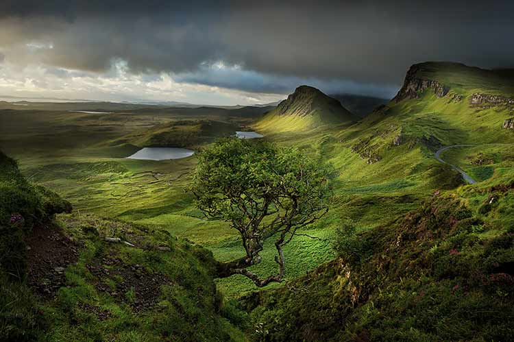 Photograph of the view from Trotternish Ridge on the Isle of Skye