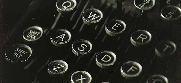 Photograph of an antique typewriter