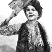 Victorian newspaper boy